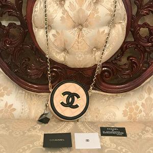 Chanel Beige Mini Caviar Filigree Round Bag